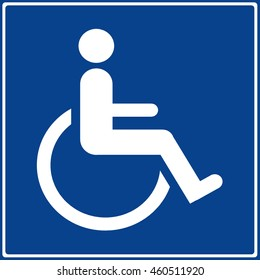 disabled handicap toilet sign isolated symbol on white background