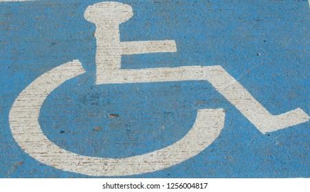 Disabled parking mark Symbol