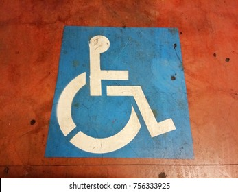 Disabled parking road