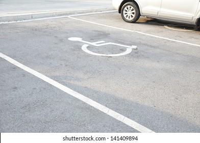 Disabled parking sign