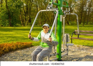 The disabled person leads a very active lifestyle.