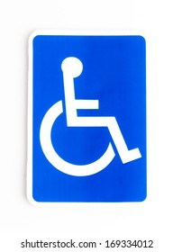 disabled sign on isolated white background