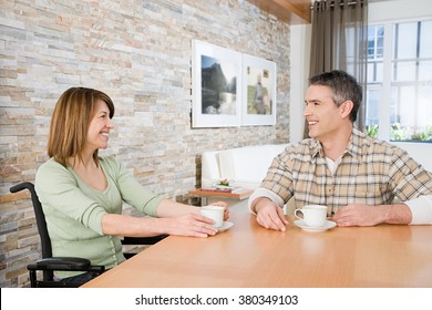 Disabled woman with her partner