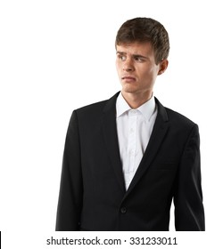 disappointed man looking with disgust and disdain