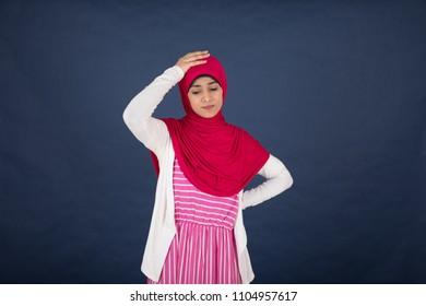 Hijab Girl Sad Stock Photos Images Photography Shutterstock