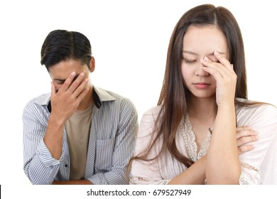 Disappointed woman and man