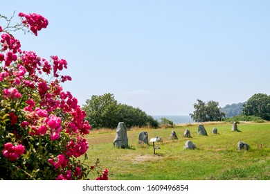 Disas Ting, a stone circle formation tomb derived from the stone or bronze age located outside Ystad in south Sweden.