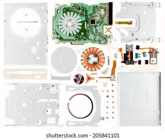 Disassembled floppy on a part