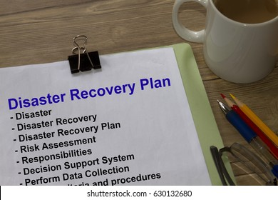 Disaster recovery plan - many uses in the construction industry.