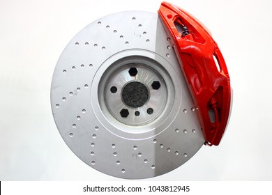 Disc brake, close-up of a disc brake.