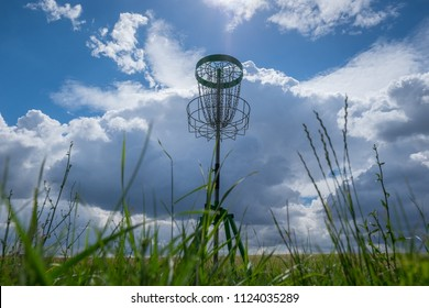 Disc Golf basket from the bottom