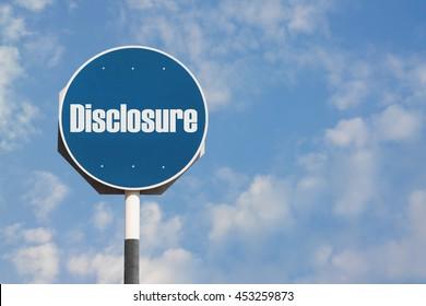 Disclosure Sign