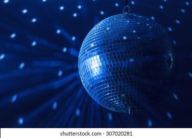 disco ball background close up