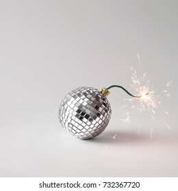 Disco ball fuse bomb concept. Time for party.