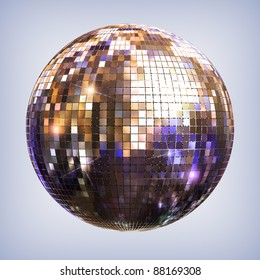 Disco ball - isolated with clipping path