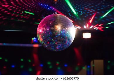 Disco ball light reflection background