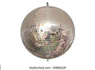 A disco ball is on white background.