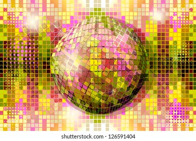 disco ball . raster