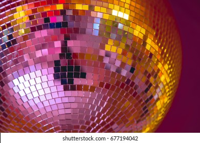 Disco ball with shining light
