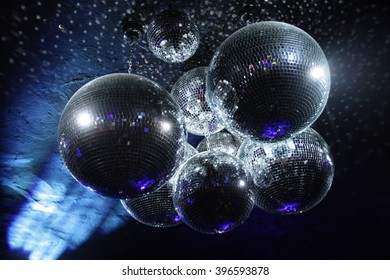 Disco balls in dark
