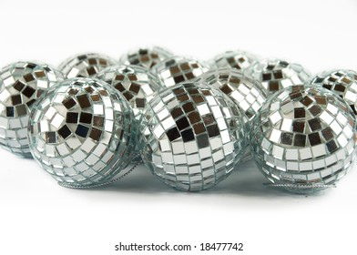 Disco balls isolated on a white background