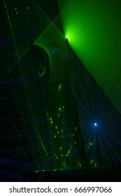 Disco dance with special effects and fantastic laser show