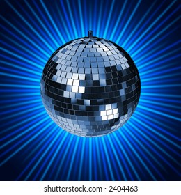 Disco Mirrorball with Lightrays. check my portfolio for variations