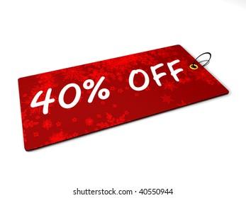 Discount card 40%