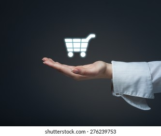 Discount and commission in e-shop.Sale represented by percentage symbol.