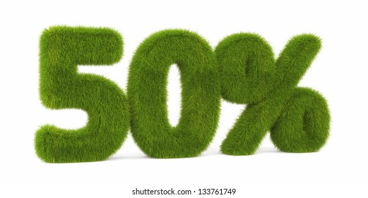 Discount. Digits from grass