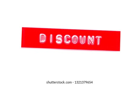 discount embossed word on plastic tape