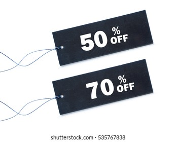 Discount price tag of sale label of isolated on white background