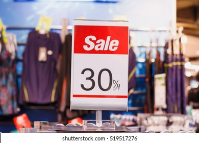 discount sale sign in shopping mall