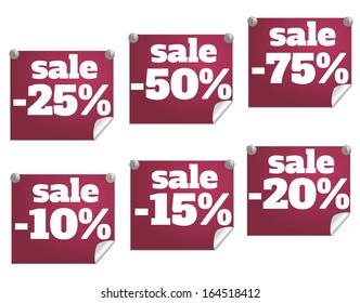 Discount text with numbers. Rasterized copy