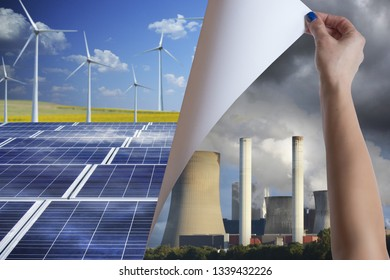 Discovering and using renewable energy resources instead of polluting power station chimneys