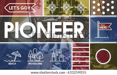 New Pioneer Travel >> Discovery Pioneer Travel Outdoors Graphic Stock Photo Edit Now