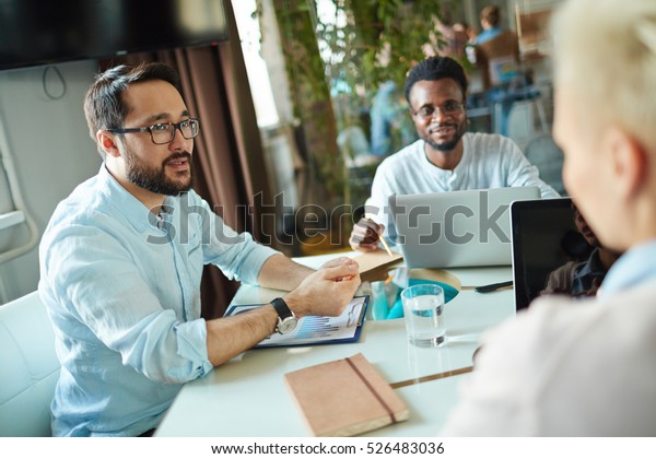 Discussing finances and sales