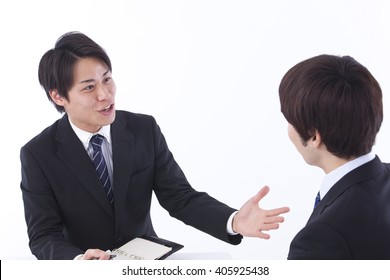 Discussion to businessman