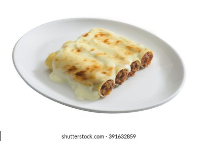 dish of cannelloni ripieni, typical italain food