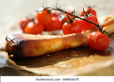 dish with cherry tomatoes