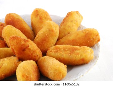 Dish of croquettes of beef and ham