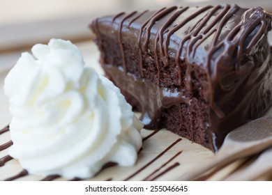 dish of delicious dessert with Chocolate cake