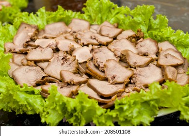 a dish made from pig tongue cooked with special ingredients. This food contain high cholesterol and not recommended for  people who have heart disease