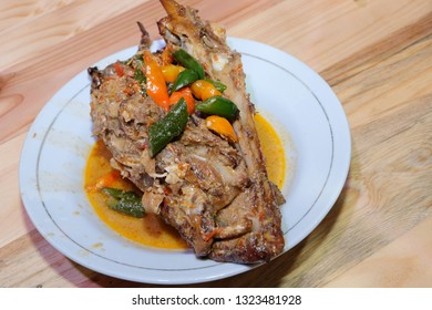 Dish of Manyung fish in spicy coconut milk