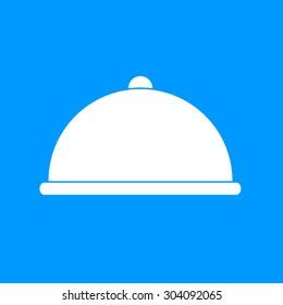 Dish served. composition illustration