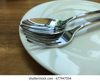 Dish spoon fork