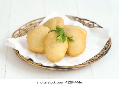 Dish  with steamed  potatoes