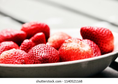 Dish of strawberries