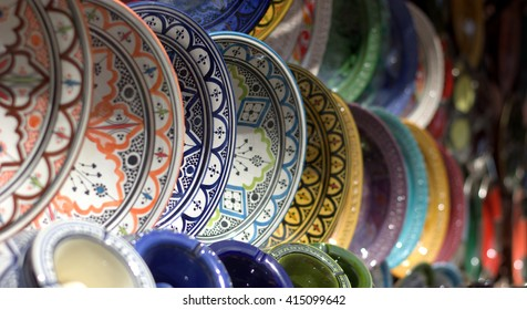 Dishes in the colorful markets of the East