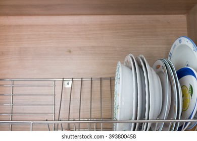 Dishes in rack